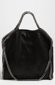 Stella McCartney Stella McCartney 'Falabella - Shaggy Deer' Faux Leather Foldover Tote available at #Nordstrom