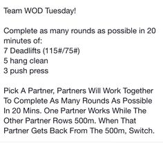 Partner WOD #crossfit