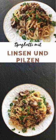 Spaghetti mit Linsen-Pilz-Rahm-Sauce nutrition of broccoli - Nutrition Easy Pasta Recipes, Spicy Recipes, Veggie Recipes, Healthy Recipes, Pasta Nutrition, Broccoli Nutrition, Lentils Nutrition, Milk Nutrition, Gnocchi