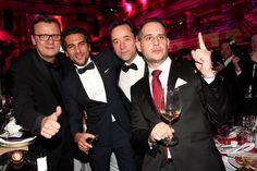 Pin for Later: 18 Gründe, warum Elyas M´Barek ein echter Traummann ist  Torsten Koch, Jan Josef Liefers und Moritz Bleibtreu zusammen mit Elyas beim deutschen Filmball 2015.