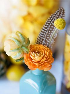 love the color scheme. turquoise, orange, and yellow.
