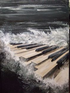 """""""Under the bright but faded lights you set my heart on fire"""" ♫ Arte Do Piano, Piano Art, Piano Music, Piano Keys, Music Images, Music Pictures, Rock Poster, Music Drawings, Prophetic Art"""