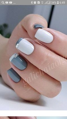 """If you're unfamiliar with nail trends and you hear the words """"coffin nails,"""" what comes to mind? It's not nails with coffins drawn on them. Although, that would be a cute look for Halloween. It's long nails with a square tip, and the look has. Wedding Nail Polish, Glitter Nail Polish, Gel Nails, Acrylic Nails, Short Nail Designs, Simple Nail Designs, Nail Art Designs, American Nails, Beautiful Nail Polish"""