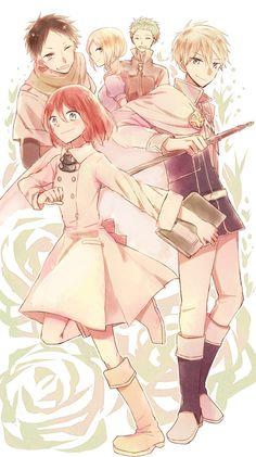 Akagami no Shirayukihime / Snow White with the red hair anime and manga || Shirayuki Prince Zen Mitsuhide Kiki and Obi