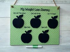 A personal favourite from my Etsy shop https://www.etsy.com/uk/listing/294582215/diet-weight-loss-chalkboard-with-syn