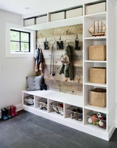 mud room or garage storage idea