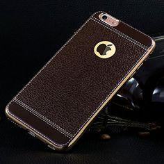 iPhone 6 6S Hülle Dunkelbraun , ivencase Luxus Texturierter Leder Style Schutzhülle, Flexibles TPU Hybrid Bumper Silikon Tasche Handyhülle für Apple iPhone 6 6s 4.7″ - http://www.xn--handyhllen-shop-4vb.de/produkt/iphone-6-6s-huelle-dunkelbraun-ivencase-luxus-texturierter-leder-style-schutzhuelle-flexibles-tpu-hybrid-bumper-silikon-tasche-handyhuelle-fuer-apple-iphone-6-6s-4-7/