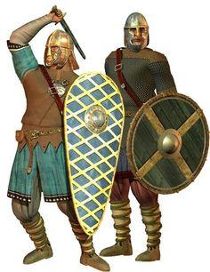 Saxon warriors, ca. 500-600.