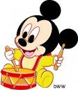 Baby Mickey Drumming Source by Baby Mickey, Mickey Mouse Y Amigos, Mickey Mouse And Friends, Mickey Minnie Mouse, Disney Babys, Disney Diy, Pluto Disney, Disney Mickey, Baby Cartoon