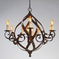 Gramercy iron chandelier