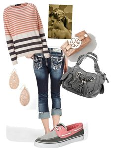 """Comfy Day Salmon & Gray"" by countrygirl0801 on Polyvore"