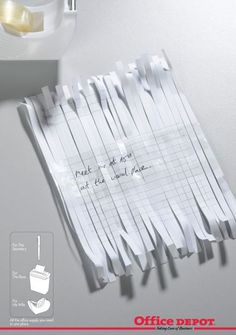 For the secretary, for the boss, for his wife. Clever Print Ads.