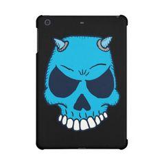 Blue Demon Skull Ipad Retina Case