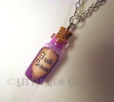 Truth Serum Glass Bottle Cork Necklace Potion by LittleGemGirl
