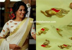 elephant motifs blouse design pranaah poornima indrajith 600x415 photo