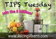 Tips Tuesday!  Make Time for Juicing  While #working full-time, I find making time to juice can be a challenge. I prefer to juice before work, as it gives me a great start to the day. But if I simply can't find the time, I will juice after work and on weekends.    How do you make time for #juicing?  #JuicingVixens  www.juicingvixens.com