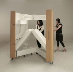 A Foldable Bedroom, Office And Kitchen Helps People Maximize Space - TAXI Daily News