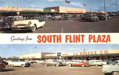 flint michigan in the 60s | flint michigan circa 1950 s greetings from south flint plaza and just ...