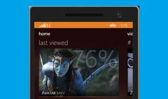 First render/screenshot of VLC Player for Windows Phone 8.1 appear