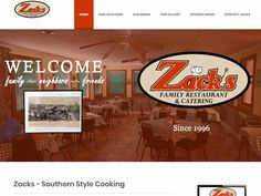 Webbering redesigned the website for the award-winning Zack's Family Restaurant located in Dothan, Alabama.  Zack's Family Restaurant serves the best Southern Style meals in Dothan and the surrounding Wiregrass Area.  Zack's serves lunch weekdays and on Sundays as well as provide catering services. Southern Homes, Southern Style, Dollar General Store, Dothan Alabama, Homemade Cornbread, Lunch Buffet, Restaurant Owner, Country Cooking