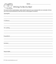 My Character Traits Social Skills Worksheets | Therapy Misc ...