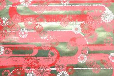 Items similar to Retro Wallpaper by the Yard Vintage Mylar Wallpaper - Gold Mylar Red and White Flowers on Geometric on Etsy Vintage Wallpaper Patterns, Retro Wallpaper, Vinyl Wallpaper, Pattern Wallpaper, Red And White Flowers, Different Patterns, Aesthetic Wallpapers, Creative, Handmade