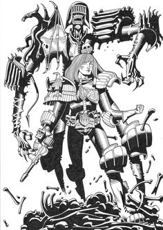 2000ad, Judge Death and Psi Judge Anderson, Mike McMahon