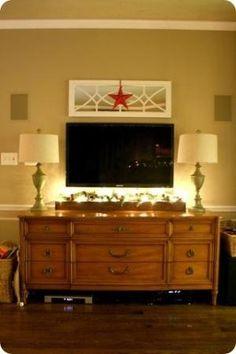 mirror above tv by eddie