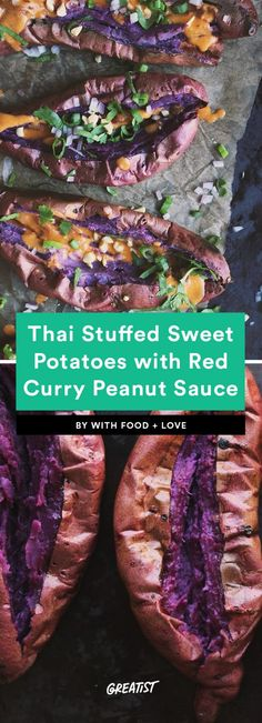 Hello, new favorite weeknight meal. #sweetpotato #recipes https://greatist.com/eat/stuffed-sweet-potato-recipes