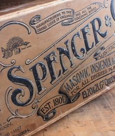 Spencer label
