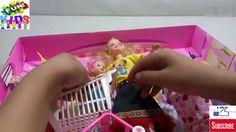 Búp bê barbie doll-xe đẩy siêu thị | trolley supermarket | FUN KIDS |