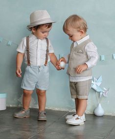 Adorable twin boy style - sibling style - little boy outfits - twin outfits
