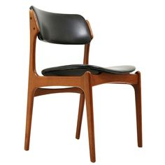 erik buck dining table and chairs   Set 4 Tek Danish Modern Dining Chairs by Erik Buck at 1stdibs