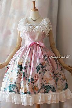 Classic *Au nom de la Rose* JSK Classic Lolita Dresses