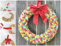 Simple Easy to Make Wreaths Design ~ http://www.lookmyhomes.com/easy-to-make-wreaths/