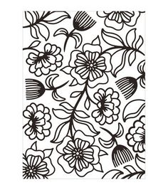 Darice Floral Whimsy Embossing Folder