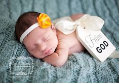 From God photo prop  http://www.etsy.com/listing/153065876/new-born-photo-prop-tag-maternity-photo