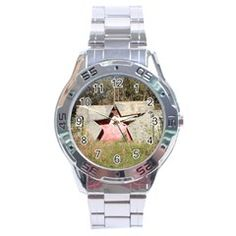 Red Russian Star Stainless Steel Watch by stineshop