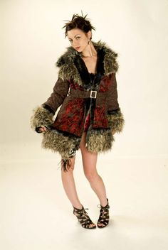 Swing Coat style by Lily Guilder Design Festival Coats, Swing Coats, Dapper, Fur Coat, Lily, Glamour, Magic, Jackets, Shopping