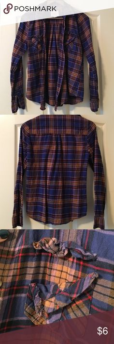 Forever 21 Long Sleeved Flannel Good condition. Just has one pocket that is coming undone. Easily fixable if you know how to sew. Forever 21 Tops Button Down Shirts