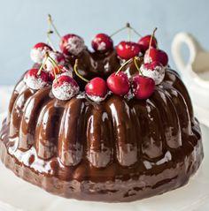 Step by Step: Herman& ganache chocolate cake Baking Recipes, Cake Recipes, Dessert Recipes, Desserts, Dessert Cups, Chocolate Recipes, Chocolate Cake, Kos, Ma Baker