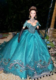 Pretty gown for Barbie Doll.....