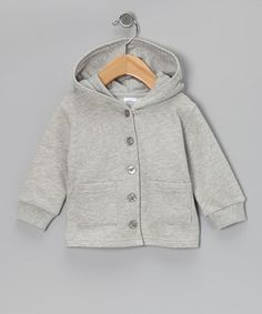 Look what I found on #zulily! Gray Organic Wool Button-Up Hoodie - Infant, Toddler & Kids #zulilyfinds