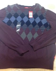 IZOD Mens Sweater 100% Cotton Size Large Plum Color NWT | Clothing, Shoes & Accessories, Men's Clothing, Sweaters | eBay!