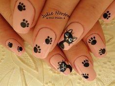Cute Kitties ♥ Inspired by RadiD by - Nail Art Gallery by Nails Magazine Cat Nail Art, Animal Nail Art, Cat Nails, Cat Nail Designs, Fingernail Designs, Nails Design, Pretty Nail Art, Beautiful Nail Art, Fancy Nails