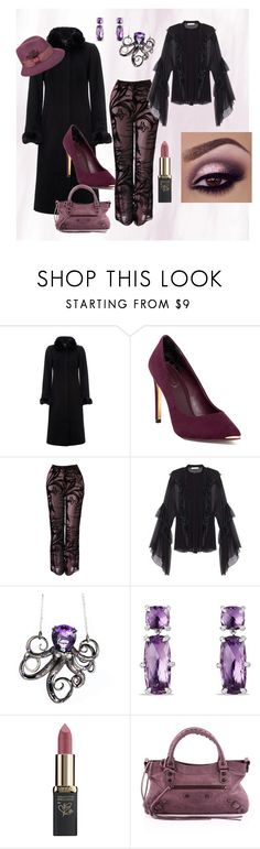"""""""Cold Weather Party.."""" by marlenajo-b ❤ liked on Polyvore featuring Jaeger, Ted Baker, Robert Pelliccia, David Yurman, L'Oréal Paris, Balenciaga, Betmar and WEAREJUSTGIRLS"""