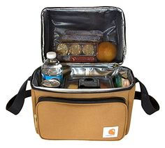Carhartt Deluxe Dual Compartment Insulated Lunch Cooler Bag. For product & price info go to:  https://all4hiking.com/products/carhartt-deluxe-dual-compartment-insulated-lunch-cooler-bag/