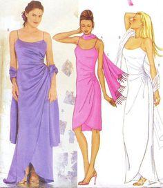 Butterick Sewing Pattern 6873 Womens Prom Wedding by CloesCloset, $10.00