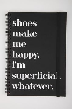 """A5 Spinout Notebook """"Shoe Quote"""" - Typo"""