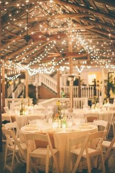 Twinkle lights make this space look like magic I New York Wedding Consultant I See more @WeddingWire I #decor #venue #reception